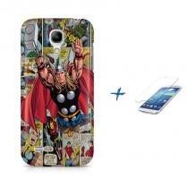 Kit Capa Case TPU Galaxy S4 Mini Thor (The Avengers) + Película de Vidro (BD01) - BD Net Imports