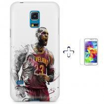 Kit Capa Case TPU Galaxy S5 Mini Cleveland Cavaliers LeBron James + Pel  Vidro (BD01 85c5000d250e1