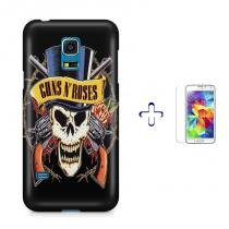 Kit Capa Case TPU Galaxy S5 Mini Guns n Roses + Película de Vidro (BD01) - BD Net Imports
