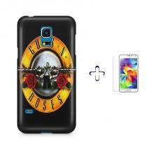 Kit Capa Case TPU Galaxy S5 Mini Guns n Roses + Película de Vidro (BD02) - BD Net Imports