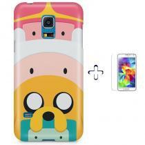 Kit Capa Case TPU Galaxy S5 Mini Hora da aventura Adventure Time + Pel Vidro (BD01) - BD Net Imports