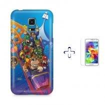 Kit Capa Case TPU Galaxy S5 Mini Mario Bros e DK + Película de Vidro (BD01) - BD Net Imports