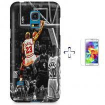 Kit Capa Case TPU Galaxy S5 Mini Michael Jordan 23 Basquete + Pel Vidro (BD01) - BD Net Imports