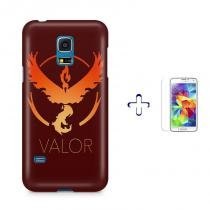 Kit Capa Case TPU Galaxy S5 Mini Pokemon Valor Team + Película de Vidro (BD01) - BD Net Imports
