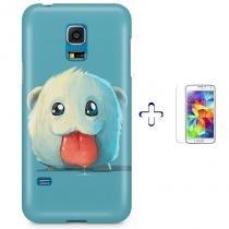 Kit Capa Case TPU Galaxy S5 Mini Poro League of Legends + Pel Vidro (BD01) - BD Net Imports