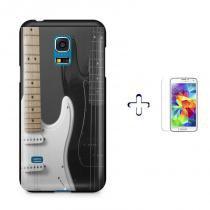 Kit Capa Case TPU Galaxy S5 Mini Rock n Roll + Película de Vidro (BD01) - BD Net Imports