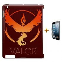 Kit Capa Case TPU iPad 2/3/4 Pokemon Valor Team + Película de Vidro (BD01) - BD Net Imports