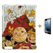 Kit Capa Case TPU iPad 2/3/4 Snoopy + Película de Vidro (BD01) - BD Net Imports
