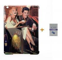 Kit Capa Case TPU iPad Air 2 (iPad 6) Elvis Presley + Película de Vidro (BD01) - Skin t18