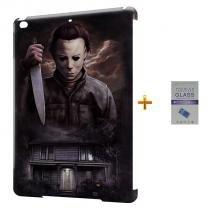 Kit Capa Case TPU iPad Air 2 (iPad 6) Michael Myers + Película de Vidro  (BD01) - BD Net Imports
