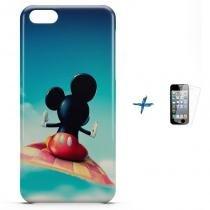 Kit Capa Case TPU iPhone 5C Mickey + Pel Vidro (BD02) - BD Net Imports