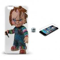 Kit Capa Case TPU iPhone 6/6S Chucky + Película de Vidro (BD01) - BD Net Imports