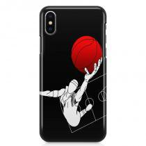 Kit Capa Case TPU iPhone X - Basquete + Pel Vidro (BD02) - BD Net Imports