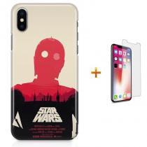 Kit Capa Case TPU iPhone X - Star Wars C3PO + Pel Vidro (BD30) 374e399026bd3