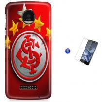 Kit Capa Case TPU Moto Z XT1650 - Internacional Time Futebol + Pel Vidro (BD01) - BD Net Imports