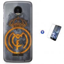 Kit Capa Case TPU Moto Z XT1650 - Real Madrid Futebol + Pel Vidro (BD01) - BD Net Imports