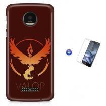 Kit Capa Case TPU Moto Z2 Play - Pokemon Valor Pokemon Go + Pel Vidro (BD01) - BD Net Imports