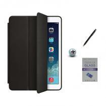 Kit Capa IP Pro 9,7 Smart Case / Capa Traseira / Caneta Touch + Película de Vidro (Cor Preto) - BD Net Imports
