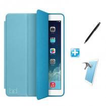 """Kit Capa iPad Pro 10,5"""" Smart Case / Capa Traseira / Caneta Touch + Película de Vidro (Cor Azul) - Skin t18"""