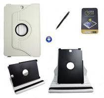 Kit Capa para Galaxy Tab A 8.0 P350/P355 Giratória 360 + Película de Vidro + Caneta Touch (Branco) - BD Net Imports