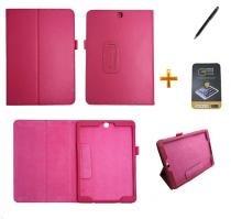 Kit Capa para Galaxy Tab S2 9.7 T810/T815 Carteira + Película de Vidro + Caneta Touch (Pink) - BD Net Imports