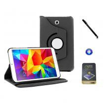 Kit Capa para Galaxy Tab S2 9.7 T810/T815 Giratória 360 + Película de Vidro + Caneta Touch (Preto) - BD Net Imports