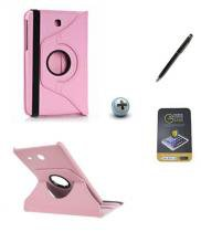 Kit Capa para Galaxy Tab S2 9.7 T810/T815 Giratória 360 + Película de Vidro + Caneta Touch (Rosa) - BD Net Imports