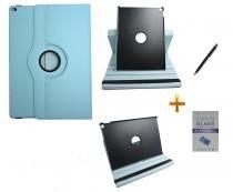 """Kit Capa para iPad Pro 12.9"""" Giratória 360 + Película de Vidro + Caneta Touch (Azul Claro) - BD Net Imports"""