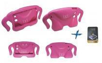 "Kit Capa Protetor Infantil Anti-Choque Emborrachado Galaxy Tab E T560/T561 9,6"" + Película de Vidro (Rosa) - BD Net Imports"