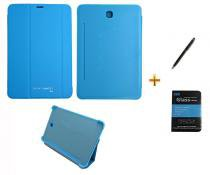 Kit Capa Smart Book Case Galaxy Tab S2 - 8.0 T710/715 / Caneta Touch + Película de Vidro (Azul) - BD Net Imports