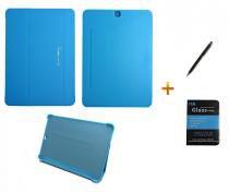 Kit Capa Smart Book Case Galaxy Tab S2 - 9.7 T810/815 / Caneta Touch + Película de Vidro (Azul) - BD Net Imports
