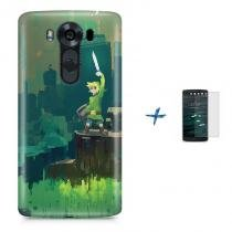 Kit Capa TPU LG K10 2017 Zelda Link Ocarina of Time Breath of The Wild + Pel Vidro (BD01) - BD Net Imports