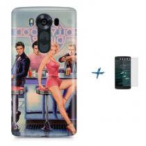 Kit Capa TPU LG V10 Hollywood Marilyn Monroe James Dean Elvis Presley + Pel Vidro (BD01) - BD Net Imports