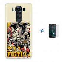 Kit Capa TPU LG V10 Pulp Fiction + Pel Vidro (BD01) - BD Net Imports