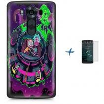 Kit Capa TPU LG V10 Rick And Morty + Pel Vidro (BD01) - BD Net Imports