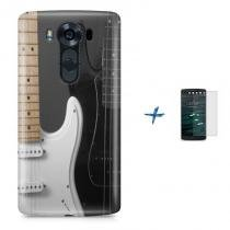 Kit Capa TPU LG V10 Rock and Roll Guitarra + Pel Vidro (BD01) - BD Net Imports