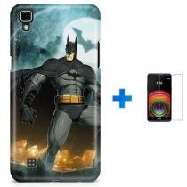 Kit Capa TPU LG X Power Batman + Pel Vidro (BD01) - BD Net Imports