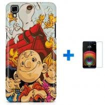 Kit Capa TPU LG X Power Charlie Brown Snoopy + Pel Vidro (BD01) - BD Net Imports