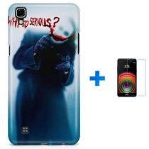 Kit Capa TPU LG X Power Coringa Joker Why so Serious Dark Knight + Pel Vidro (BD01) - BD Net Imports