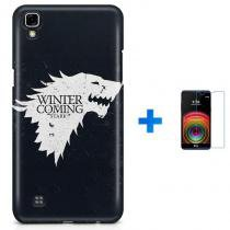 Kit Capa TPU LG X Power Game of Thrones GOT + Pel Vidro (BD01) - BD Net Imports
