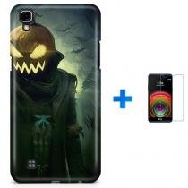 Kit Capa TPU LG X Power Halloween + Pel Vidro (BD01) - BD Net Imports