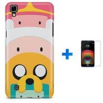 Kit Capa TPU LG X Power Hora da aventura Adventure Time + Pel Vidro (BD01) - BD Net Imports