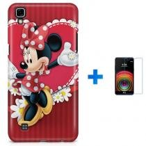 Kit Capa TPU LG X Power Minnie + Pel Vidro (BD01) - BD Net Imports