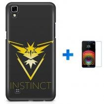 Kit Capa TPU LG X Power Pokemon Instinct Pokemon Go + Pel Vidro (BD01) - BD Net Imports