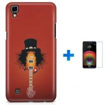 Kit Capa TPU LG X Power Slash Guns n Roses + Pel Vidro (BD01) - BD Net Imports