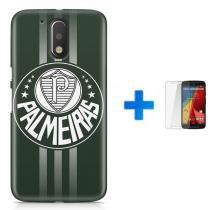 Kit Capa TPU Moto G4 Play Palmeiras + Pel Vidro (BD01) - BD Net Imports