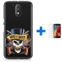 Kit Capa TPU Moto G4 Plus Guns n Roses + Pel Vidro (BD02) - BD Net Imports