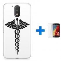 Kit Capa TPU Moto G4 Plus Simbolo de Medicina + Pel Vidro (BD01) - BD Net Imports