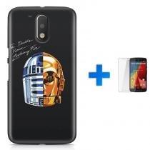 Kit Capa TPU Moto G4 Plus Star Wars Daft Punk + Pel Vidro (BD01) - BD Net Imports