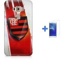 Kit Capa TPU Zenfone 3 ZE552KL Flamengo + Pel Vidro (BD01) - BD Net Imports